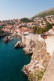 Stadsväggar av Dubrovnik Arkivbild