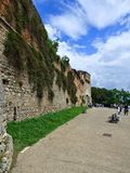Stadsväggen av Siena, Italien arkivbilder