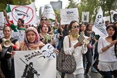 stadsvalmexico protest Royaltyfri Foto
