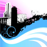 stadsvektorwave Arkivbild