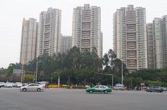 Stadsverkeer en de landschapsbouw Stock Afbeelding