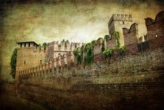 stadsverona väggar Arkivbilder