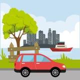 Stadsvervoer en voertuigen Royalty-vrije Stock Foto's
