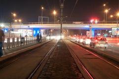 Stadsvervoersinfrastructuur Stock Foto