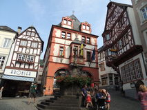 Stadsvierkant in Bernkastel Duitsland Royalty-vrije Stock Afbeelding