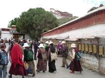 Stadsvierkant in Lhasa, Tibet Royalty-vrije Stock Foto's