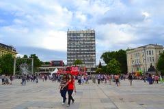 Stadsvierkant, Plovdiv, Bulgarije royalty-vrije stock foto's