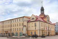 Stadsvierkant in Zary Royalty-vrije Stock Afbeelding