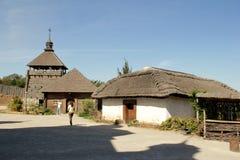 StadsZaporozhye ö Khortytsya arkivbild
