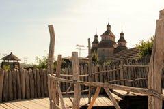 StadsZaporozhye ö Khortytsya arkivbilder