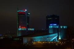 Stadt †‹â€ ‹von Minsk, Allee Pobediteley Stockfotografie