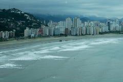 Stadt †‹â€ ‹von Sao Vicente erwartet tropischen Sturm lizenzfreie stockbilder