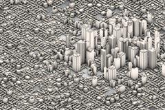 Stadt lizenzfreie abbildung