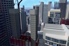 Stadt-Abbildung Lizenzfreie Stockfotografie