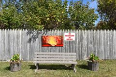 Stadt Adirondack USA der tupper See-Kunstbank Lizenzfreies Stockfoto