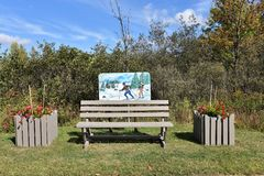 Stadt Adirondack USA der tupper See-Kunstbank Stockfotos