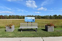 Stadt Adirondack USA der tupper See-Kunstbank Stockfotografie