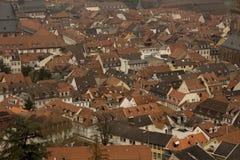 Stadt-Ansicht von historischem Heidelberg Lizenzfreies Stockbild