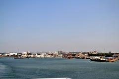 Stadt auf dem Strand Lizenzfreie Stockbilder