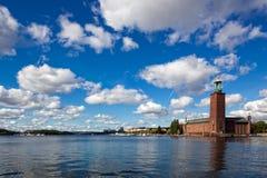 Stadt auf dem Wasser, Stockholm Stockbild