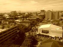 Stadt auf Sepia Stockbild
