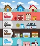 Stadt banenr Retro- Illustration Stockbilder