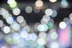 Stadt beleuchtet abstraktes Kreis-bokeh Lizenzfreie Stockfotos