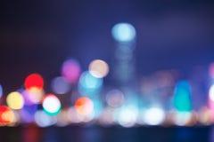 Stadt beleuchtet großes abstraktes Kreis-bokeh Lizenzfreies Stockbild