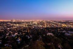 Stadt beleuchtet Los Angeles Lizenzfreie Stockbilder