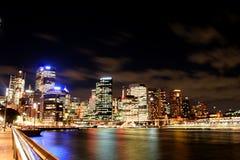 Stadt bis zum Nacht 04 Stockbild