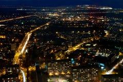 Stadt bis zum Nacht Lizenzfreie Stockbilder