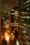 Stadt bis zum Nacht Lizenzfreie Stockfotografie