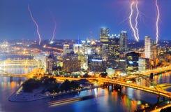 Stadt-Blitz Lizenzfreies Stockfoto