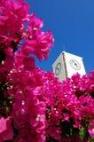 Stadt-Borduhr von Santorini Stockfotos