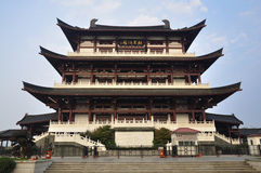 Stadt China-Changsha, chinesisches Gebäude Stockfotografie