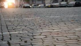 Stadt Crosswalk stock video footage