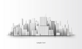 Stadt 3d lizenzfreie abbildung