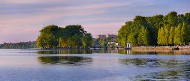 Stadt der allgemeinen Ansicht von Ternopil Lizenzfreies Stockbild