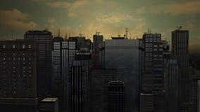 Stadt der Antenne 3d lizenzfreie abbildung