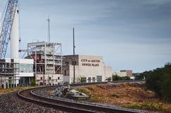 Stadt der Austin-Triebwerkanlage Stockfotografie