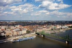 Stadt der Budapest-Stadtbild-Vogelperspektive lizenzfreie stockfotos