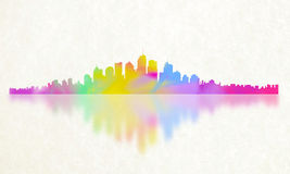 Stadt der Farbreflexion Stockfotos
