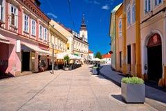 Stadt der Hauptstraßenansicht Cakovec Lizenzfreie Stockfotos