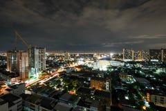 Stadt in der hellen Nacht Lizenzfreies Stockbild