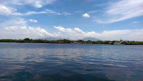 Stadt in der Insel Stockfotos