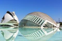 Stadt der Künste und der Wissenschaften in Valencia Lizenzfreie Stockfotos