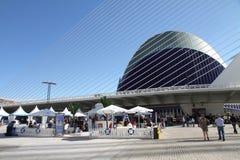 Stadt der Künste und der Wissenschaften Valencia geöffnet Stockfotos