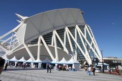 Stadt der Künste und der Wissenschaften Valencia geöffnet Stockbilder