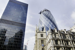 Stadt der London-finacial Gebäude lizenzfreies stockfoto
