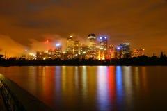 Stadt in der Nacht Stockfoto